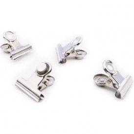 Magnetic Mini Grip Clips - Chrome (1 set of  4)