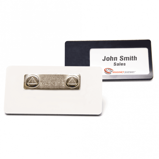 Magnetic Name Badge with Card Insert (76mm x 38mm)