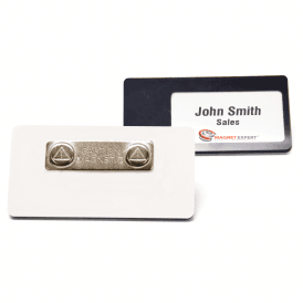 Magnetic Name Badge with Card Insert (76mm x 38mm) (Pack of 10)
