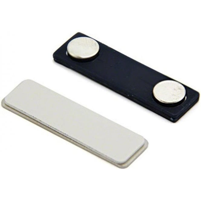 Magnetic Name Badge with Self Adhesive - Plastic Back (45mm x 13mm)