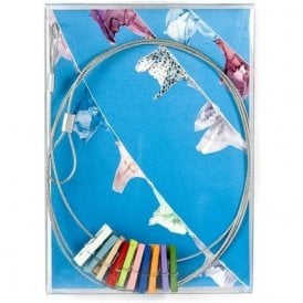 Magnetic Photo Wire with 10 colourful pegs - 150cm