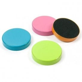 Magnets COLOR DISK, Set of 4, Assorted