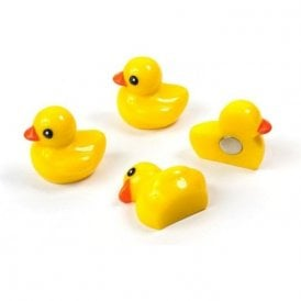 Magnets DUCKY, Set of 4, Yellow