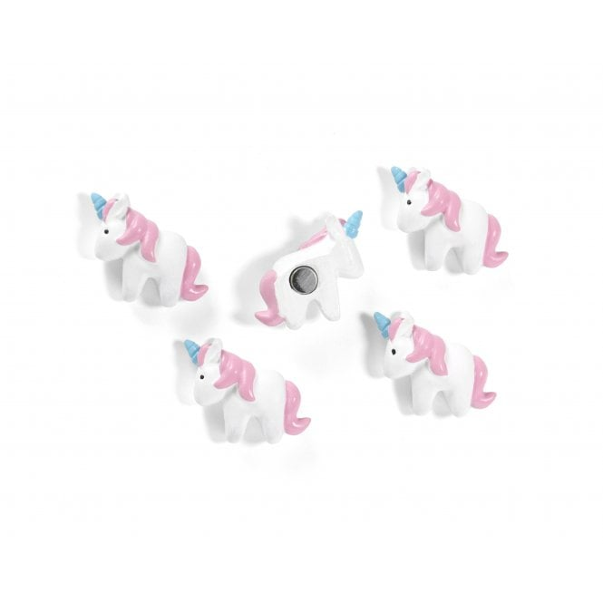 Magnets UNICORN, Set of 5, White