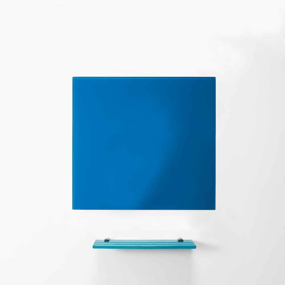 MagniPlan 450 x 450 Magnetic Glass Wipe Board Orange