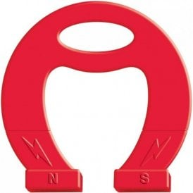 Massive Red Horseshoe Magnet - Science & Education ( Pack of 5 )