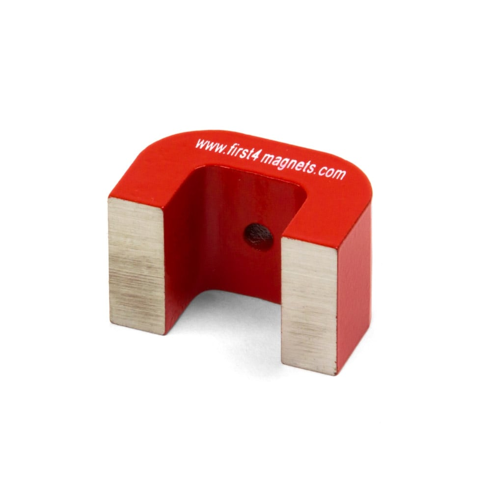 40 x 25 x 25mm 9kg Pull Pack of 10 Medium Red Alnico Horseshoe Magnet