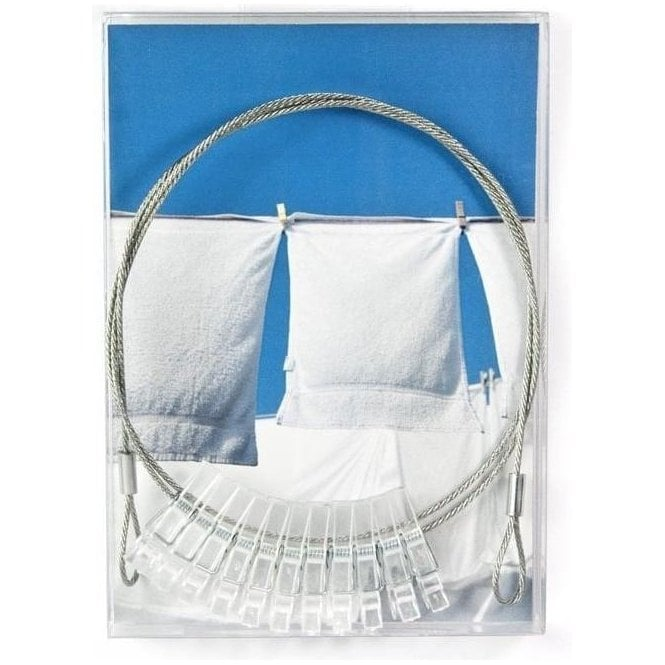 Mini Magnetic Photo Wire with 10 Clear Pegs - 100cm