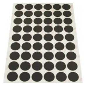 NeoFlex® 20mm Dia Self Adhesive Flexible Neodymium Dots - 54 per A5 Sheet