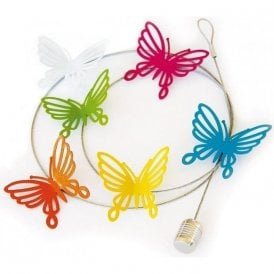 Photo Wire BUTTERFLY FILIGREE, 6 Magnets / 100 cm / Postcard