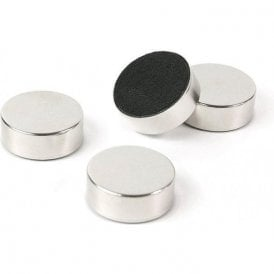 Plain Circular Office Magnets - Silver ( 23mm dia x 9mm thick )