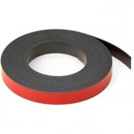 Red 12.7mm wide x 0.76mm thick Magnetic Gridding Tape ( 12.7mm x 0.76mm x 5 Metres )