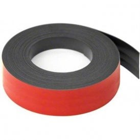 Red 25mm wide x 0.76mm thick Magnetic Gridding Tape ( 5 x 5 Metre Lengths )