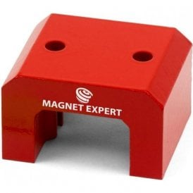 Red Alnico Horseshoe Magnet - 37kg Pull (35 x 57 x 40.5mm) (Pack of 1)
