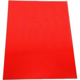 Red Flexible A4 Magnetic Sheet ( 297 x 210 x 0.85mm ) ( Pack of 40 )