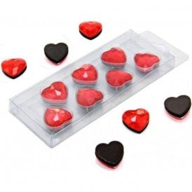Red Heart Shaped Magnet ( 20mm dia x 8mm high ) ( 10 Packs of 7 )