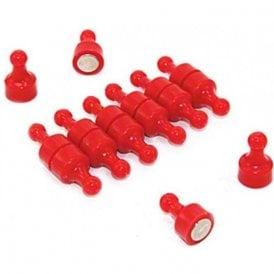 Red Skittle Magnet - Office & Fridge ( 12mm dia x 21mm tall ) ( Pack of 12 )