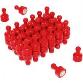Red Skittle Magnet - Office & Fridge ( 12mm dia x 21mm tall ) ( Pack of 48 )