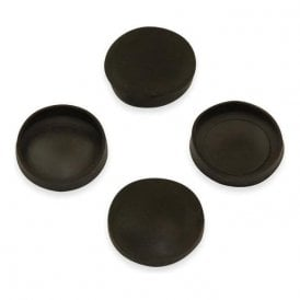 Rubber Cap Suitable for 20mm dia Magnets (21mm dia x 4mm high x 0.5mm thick) (Pack of 20)
