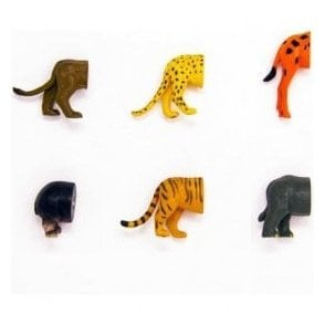 Safari Animal Butt Magnets (Pack of 6)