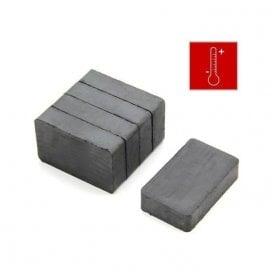 (Seconds) 40 x 25 x 10mm thick Y30BH Ferrite Magnet - 3kg Pull (Pack of 5)
