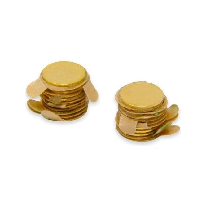 (Seconds) 7mm dia x 0.4mm thick Gold Plated Therapy Magnet + 3M 468 Adhesive applied to South (Pack of 20)