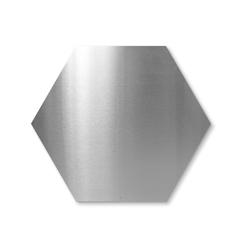 (Seconds) Hexagonal Magnetic Board c/w 10 Magnets - Stainless Steel (440 x  380mm)