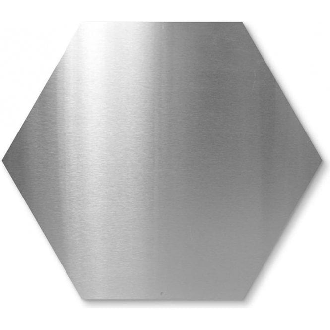 hexagonal magnetic board c w 10 magnets stainless steel bent corners. Black Bedroom Furniture Sets. Home Design Ideas