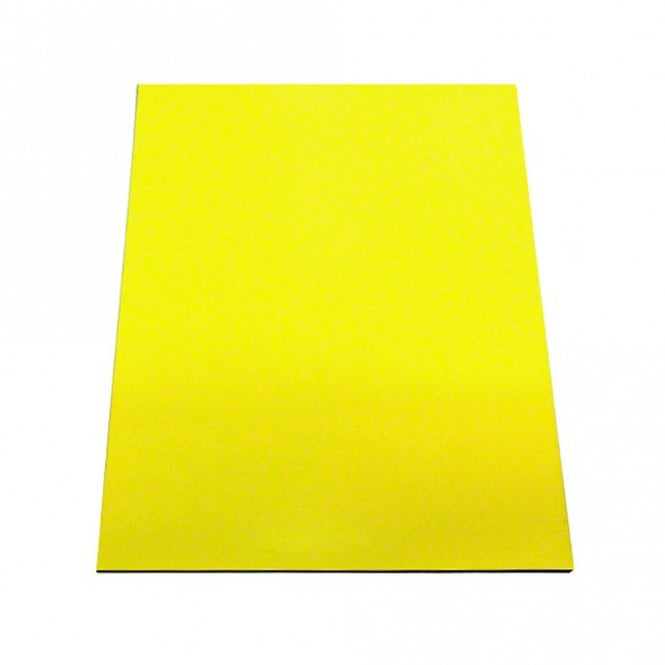 (Seconds) Yellow Flexible A4 Magnetic Sheet (297 x 210 x 0.85mm)