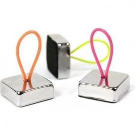 Superstrong Magnets LOOP, Set of 3, Silver, Coloured Straps