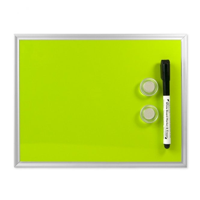 Small Magnetic Whiteboard c/w 2 Magnets & Marker (216 x 280mm)