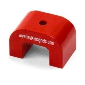 1.5kg Pull Pocket Size Red Alnico Horseshoe Magnet 25.4 x 28.5 x 8mm