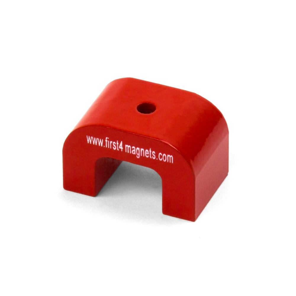 Small Red Alnico Horseshoe Magnet 4 5kg Pull 30 X 20 X
