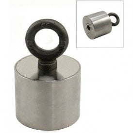 Stainless Steel Neodymium Recovery Magnet with M14 Eyebolt - 155kg Pull
