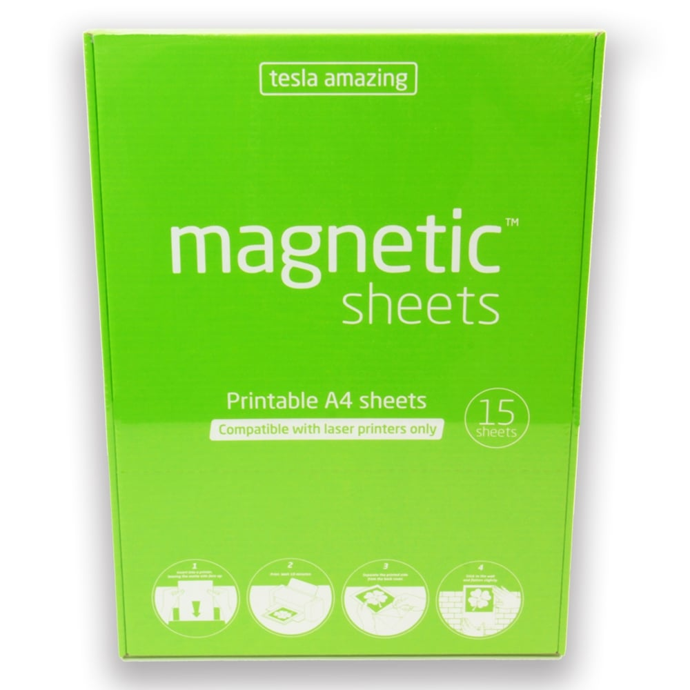 image about Printable Magnetic Paper known as Tesla Outstanding Printable Magnetic A4 Pad (210 x 297mm)