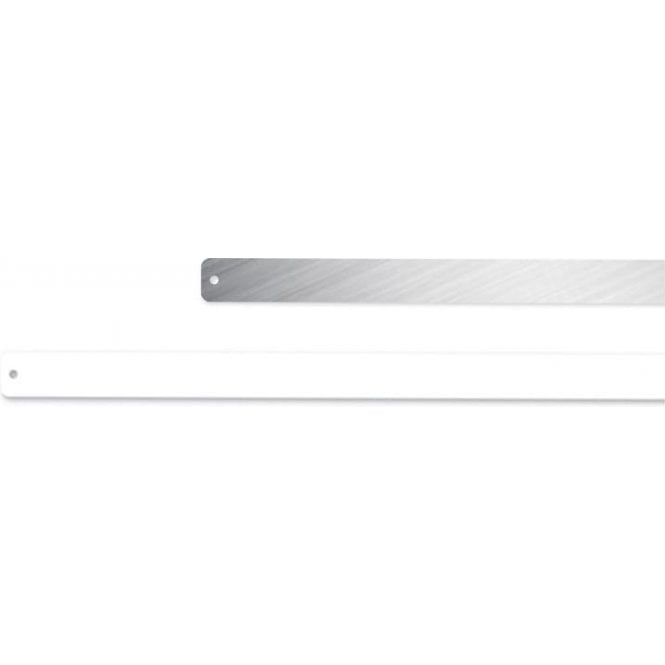 Thin Rectangular Magnetic Board / Strip c/w 9 Magnets - White (600 x 25mm)