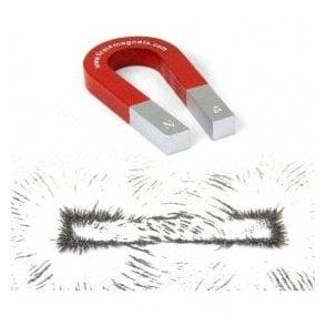 Traditional Alnico Horseshoe Magnet & Iron Powder Set - Science & Education