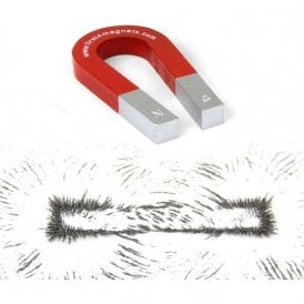 Traditional Alnico Horseshoe Magnet & Iron Powder Set - Science & Education
